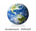 earth isolated in white... | Shutterstock . vector #3394165