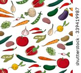 seamless pattern with different ... | Shutterstock .eps vector #339419987