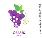 grapes icon. grapes wine or... | Shutterstock .eps vector #339421031