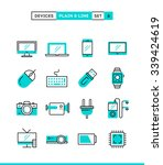 technology  devices  gadgets... | Shutterstock .eps vector #339424619