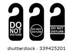 do not disturb sign. vector... | Shutterstock .eps vector #339425201