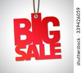 big sale isolated tag | Shutterstock .eps vector #339426059