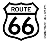 route 66 sign   Shutterstock .eps vector #339426191
