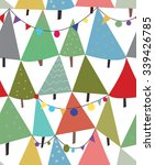 christmas trees and decorations ... | Shutterstock .eps vector #339426785