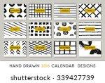 2016 calendar design template ... | Shutterstock .eps vector #339427739