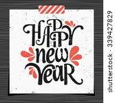 happy new year typographic... | Shutterstock .eps vector #339427829