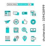 social media  communication ... | Shutterstock .eps vector #339428999