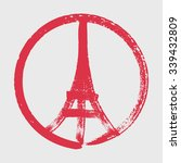 hand drawn peace for paris... | Shutterstock .eps vector #339432809