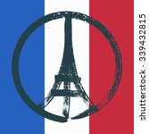 hand drawn peace for paris... | Shutterstock .eps vector #339432815