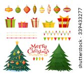 christmas greetings set with... | Shutterstock .eps vector #339433277
