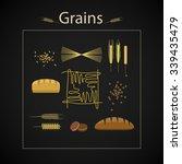 vector healthy grain food icon... | Shutterstock .eps vector #339435479