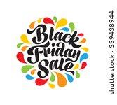 black friday sale vector text... | Shutterstock .eps vector #339438944