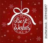 merry christmas typographical... | Shutterstock .eps vector #339440897