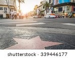 walk of fame at sunset on...