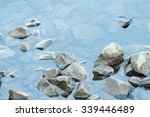 Crushed Stone In A River