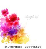 watercolor vector background... | Shutterstock .eps vector #339446699