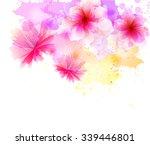 watercolor vector background... | Shutterstock .eps vector #339446801