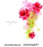 watercolor vector background... | Shutterstock .eps vector #339446897