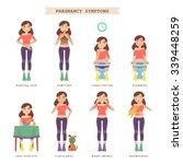 pregnancy symptoms. vector... | Shutterstock .eps vector #339448259