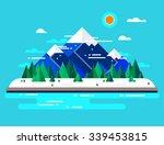 vector winter landscape. flat... | Shutterstock .eps vector #339453815