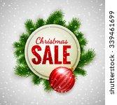 christmas sale advertising... | Shutterstock .eps vector #339461699