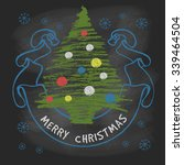 christmas vintage greeting with ... | Shutterstock .eps vector #339464504