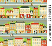 town city street panoramic... | Shutterstock .eps vector #339465581