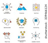 vector set of icons related to... | Shutterstock .eps vector #339466124