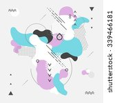 abstract modern geometric... | Shutterstock .eps vector #339466181