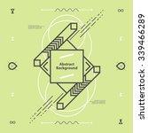 abstract modern geometric... | Shutterstock .eps vector #339466289