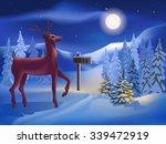 reindeer on the background of... | Shutterstock .eps vector #339472919
