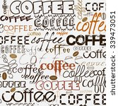 coffee background | Shutterstock . vector #339473051
