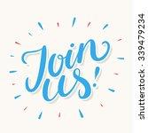 join us  | Shutterstock .eps vector #339479234