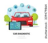 car diagnostics test service ... | Shutterstock .eps vector #339479864