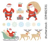 bright set of christmas vector... | Shutterstock .eps vector #339482531