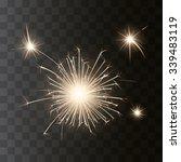 glowing vector sparkler on...   Shutterstock .eps vector #339483119