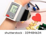 measuring blood pressure  heart ... | Shutterstock . vector #339484634