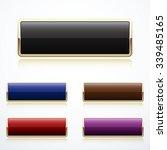 set of gold buttons | Shutterstock .eps vector #339485165