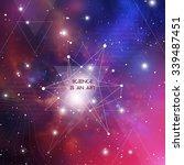 scientific design template with ... | Shutterstock .eps vector #339487451