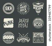 rock music styles genres... | Shutterstock .eps vector #339487799
