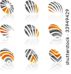 abstract company symbols.... | Shutterstock .eps vector #33949429