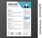 cv  resume template  vector...   Shutterstock .eps vector #339494699