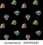 set of cartoon cars stickers... | Shutterstock .eps vector #339499685