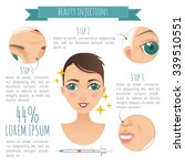 beauty injections infographic.... | Shutterstock .eps vector #339510551