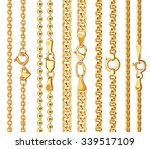 set of realistic vector golden... | Shutterstock .eps vector #339517109
