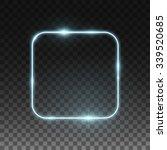 Vector Neon Frame. Shining...