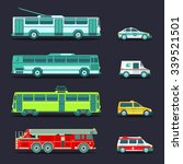 vector city transport set in... | Shutterstock .eps vector #339521501