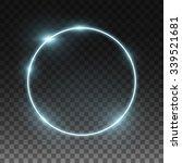 vector round frame. shining... | Shutterstock .eps vector #339521681