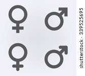 male and female symbol set .... | Shutterstock .eps vector #339525695