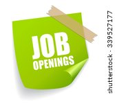 job openings sticker   Shutterstock .eps vector #339527177